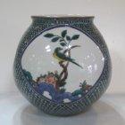 他の写真2: 九谷焼 三代 三ッ井為吉作 割取花鳥花瓶