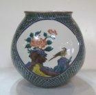 他の写真1: 九谷焼 三代 三ッ井為吉作 割取花鳥花瓶